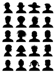 20 Anonymous Mugshots, abstract vector illustration