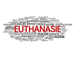 """Nuage de Tags """"EUTHANASIE"""" (fin de vie souffrance douleur mort)"""
