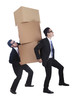 Businessmen carrying boxes 1