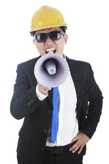 Engineer with megaphone 1