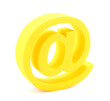 3d email symbol isolated on white