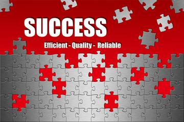 Puzzle Success Efficient Quality Reliable red