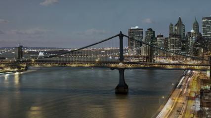 Manhattan Bridge from Day to Night