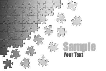 Puzzle Sample your Text left Corner