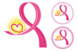 Breast Cancer Ribbons Icons