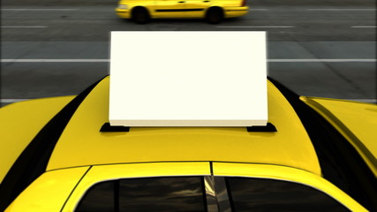 Taxi Advertising Message Board (Loop)