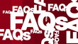 FAQs, Questions, Answers - Text Graphic Animation
