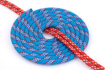 blue and red rope