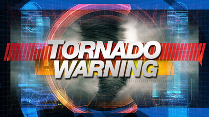 Tornado Warning - Title Graphics Animation