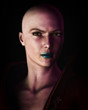 Strong Bald Futuristic Sci-Fi Woman Artistic Portrait