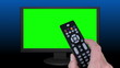 Remote Control Television (Chroma Key Green Screen)