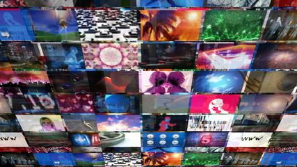 Video Walls 3D Montage (Loop)