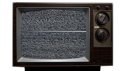 Retro Television with Static, Noise and Interference