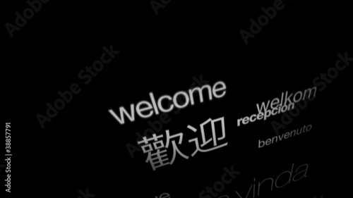 Welcome, International Languages (Text Animation)
