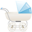 Blue baby stroller for boy
