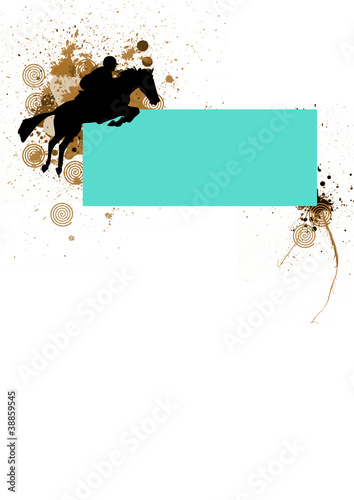 Horse jumping background