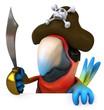 Perroquet pirate