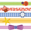 A set of vector ribbons for scrap booking