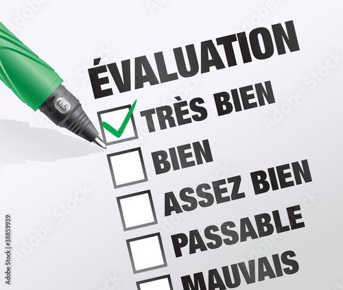 évaluation lors d'un entretien