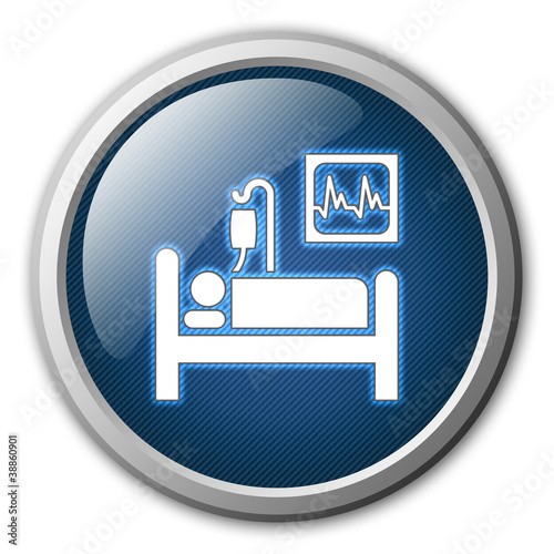 Intensive Care Glossy Button