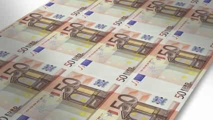 Mint - Printing 50 euro bills