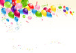 Festive balloons background