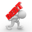 Debt concept