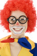 Clown mit dicker Brille