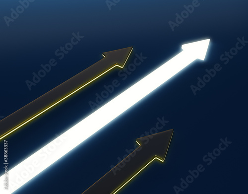 3D light arrow