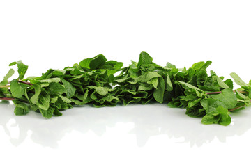 Fresh mint isolated on white