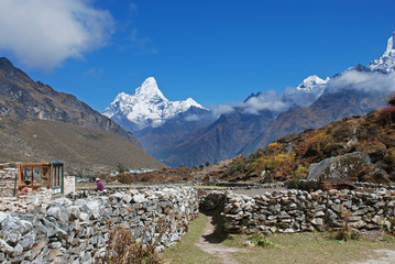 Ama Dablam, seen from Khunde village, Nepal
