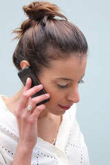 Beautiful woman speaking on her mobile phone