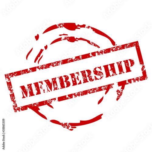 Grunge membership stamp