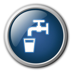 Drinking Water Glossy Button