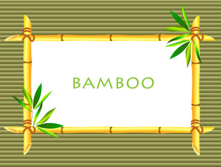Bamboo frameon bamboo background