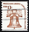 Postage stamp USA 1975 Liberty Bell, Symbol of Freedom