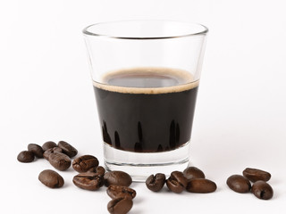 caffè espresso al vetro