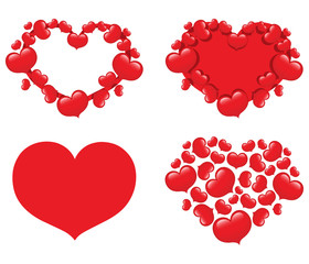 Collection of 4 hearts