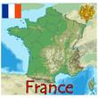 france europe map flag emblem