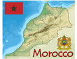 morocco africa map flag emblem