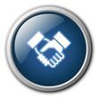 Handshake Button Glossy Button