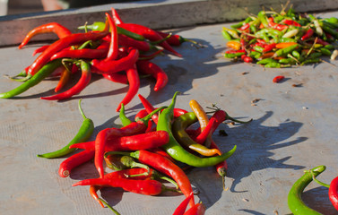 hot peppers;