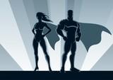 Fototapety Superhero Couple