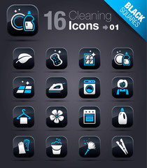 Black Squares - Cleaning Icons