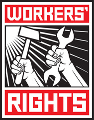 worker`s rights poster (workers rights design)