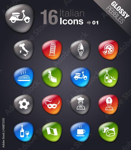 Glossy Pebbles - Italian Icons
