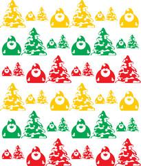 Seamless Texture of Santa