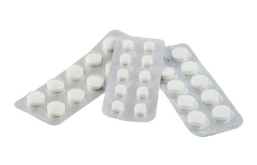Packaging pills isolated