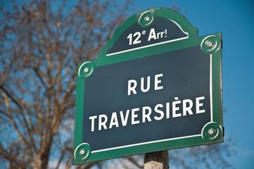 rue traversière à Paris 12ièm