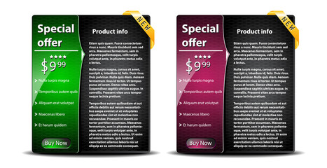 Special sale banners with product info-vector